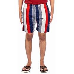 Aaduki Men's Cotton Shorts_Blue_XL