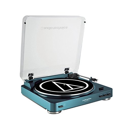 Audio Technica AT-LP60BL Fully Automatic Stereo Turntable System, Blue
