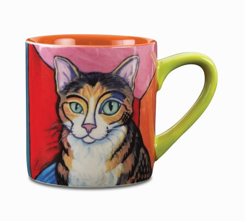 Paw Palettes Brown Tabby Cat Pawcasso Ceramic Mug, 16-Ounce front-555326