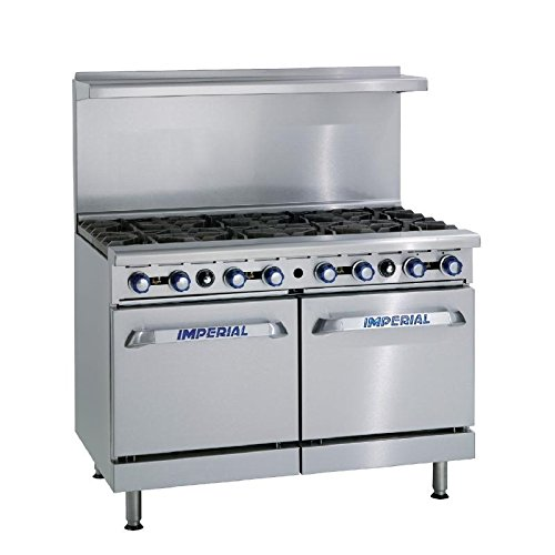Heavy Duty 82kW 8 Burner Double Oven Propane Gas Oven Range Commercial Kitchen Restaurant Cafe Catering
