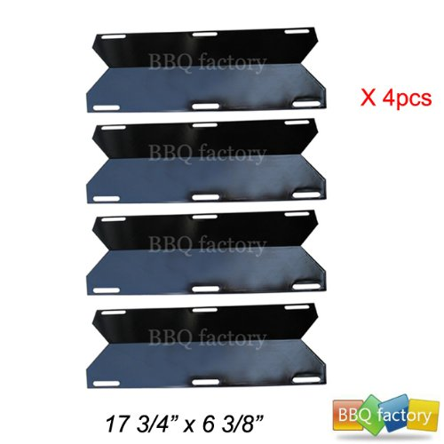 91231(4-pack) BBQ Gas Grill Heat Plate Porcelain Steel Heat Shield for Mcm, Costco Kirland, Glen Canyon, Jenn-air, Nexgrill, Sterling Forge, Lowes