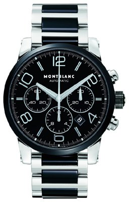 MENS MONTBLANC TIMEWALKER AUTOMATIC CHRONOGRAPH CERAMIC WRIST WATCH 103094
