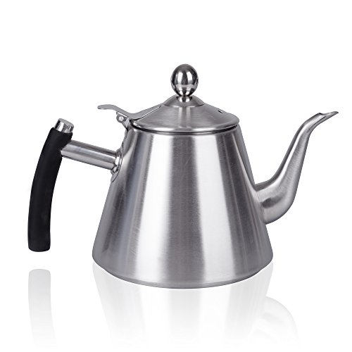 IMEEA Premium SUS304 Stainless Steel Pour Over Tea & Coffee Kettle, 1L/36oz (Kettle Simplex compare prices)