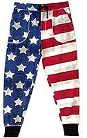 American Flag Grunge Jogger Pants for Men