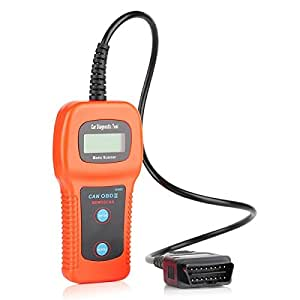 Xtool® U480 CAN-BUS OBD2 Scanner Car Diagnostics Tool Engine Code Reader With LCD Display for OBD II Vehicles - Orange