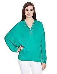 Mohr Women's Long Sleeve Top (TU0144_Green_Small)