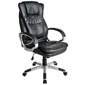 Tectake Luxury Office Chair With Double Cushion Amazon Co