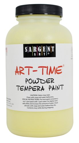 Sargent Art 22-7102 1-Pound Art Time Powder Tempera, Yellow - 1