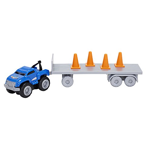 Max Tow Truck Mini Haulers Tow and Go Packs Blue Tow Truck with Tire Accessories - 1