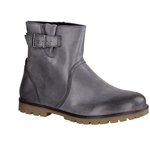 Birkenstock, Stivali donna nero Nero grigio Size: 37