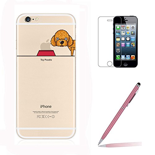 iphone-se-5-5s-case-with-tempered-glass-screen-protector-yooweir-cute-pet-dog-puppy-pattern-ultra-sl