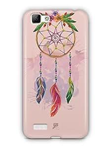 YuBingo Beautiful Feather Wall Art Mobile Case Back Cover for Vivo V1