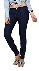 Carrel Bring In Skinny Jeans Stretchable Denim Navy Blue Colour For Womens