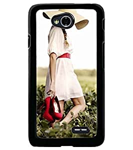 Printvisa Girl Walking On A Field Back Case Cover for LG L70 D320N::LG L70 Dual D325