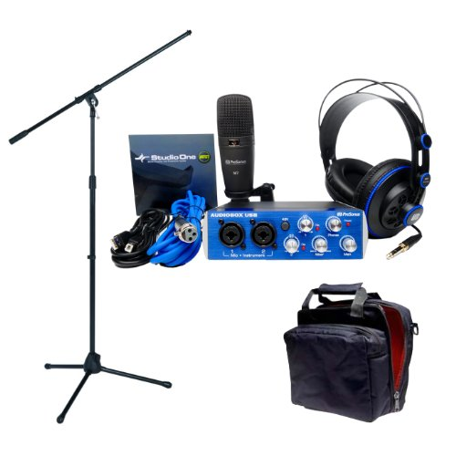 Presonus Audiobox Studio With Gig Bag, Headphones, Mic, Mic Cable, Mic Stand, Usb Cable, And Studioone Artist Software