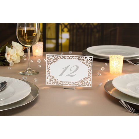 David TuteraTM Illusion Die Cut Lace Paper Table Number Cards - 25 Pieces (Table Number Place Cards compare prices)