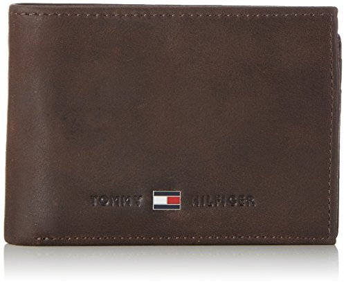 Tommy Hilfiger JOHNSON MINI CC FLAP AND COIN POCKET, Portafoglio uomo, Marrone (Braun (Brown 041)), 11x8x2 cm (B x H x T)