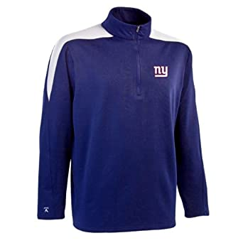 NFL Mens New York Giants 1 2 Zip Jersey Pullover by Antigua