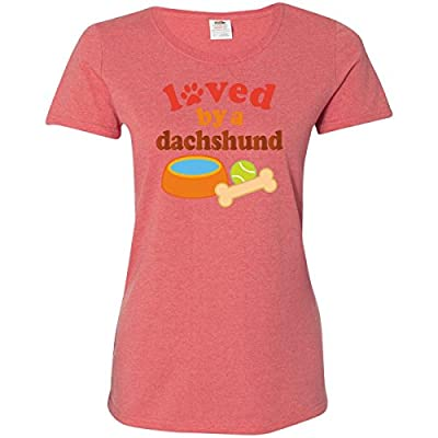 Inktastic Loved By A Dachshund Dog Women's T-Shirt