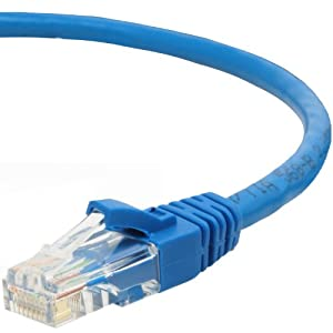 Mediabridge Cat5e Ethernet Patch Cable (100 Feet) - RJ45 Computer Networking Cord - Blue by Mediabridge Products