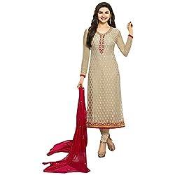Radhika Silver Brasso Dress Material