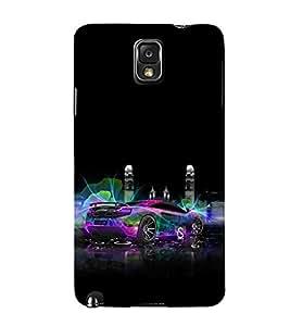 EPICCASE Sparky Car Mobile Back Case Cover For Samsung Galaxy Note 3 (Designer Case)