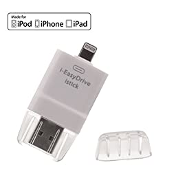 New i Flash Drive Card Reader HD OTG USB iPhone Memory iPad Memory Expanding Memory for iPhone 5s /iPhone 6/iPhone 6s/iPhone 6 Plus/iPhone 6s Plus/ iPad Easy to Save Photos/Video