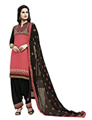 Mantra Fashion New Designer Peach And Black Patiyala Style Salwar Suit