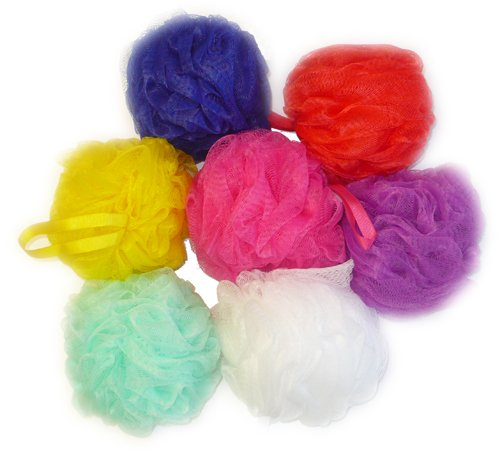 Aquasentials Mesh Pouf Bath Sponge (4 Pack)