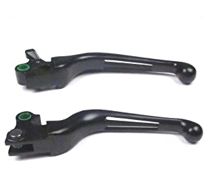 Wide Blade Ergonomic Levers for 1997-2014 Harley-Davidson Dyna and