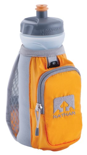 Nathan Nathan Thermal Quickdraw Handheld Bottle Carrier (Grey/Orange, 22-Ounce)