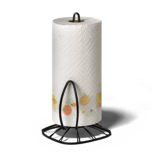 Spectrum Diversified 92910 Twist Paper Towel Holder Black