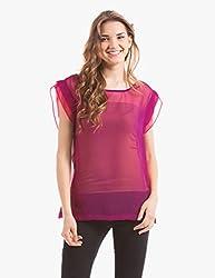Prym Women's Body Blouse Shirt (1011516801_Purple _X-Large)