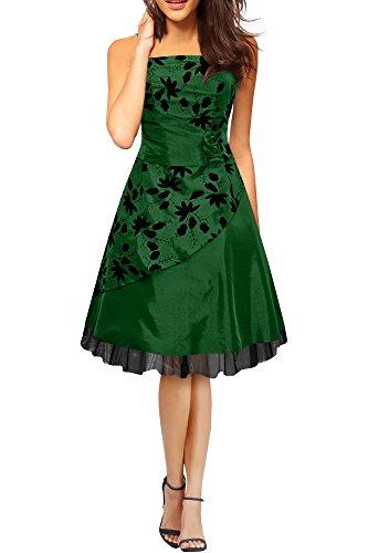 Black Butterfly 'Sia' Satin Essence Prom Dress (Dark Green, US 20)