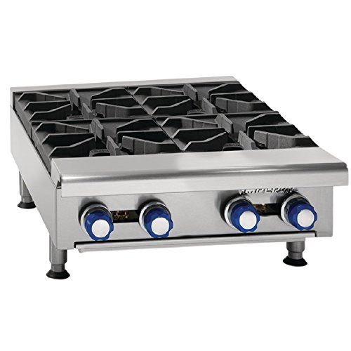 Imperial Boiling Table in Propane Gas IHPA424 LPG. 4 Burners. Power: 33kW, 112,000Btu/hr