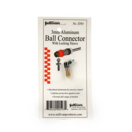 Sullivan Products 3mm Aluminum Ball Link with Locking Sleeve (Gold) - 1