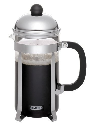 BonJour Coffee Stainless Steel French Press with Glass Carafe, 33.8-Ounce, Monet, Black Handle by BonJour (French Press Bonjour Monet compare prices)