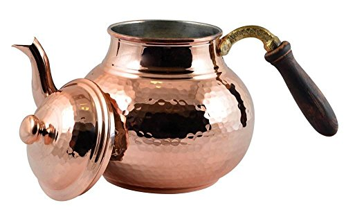 CopperBull Hammered Thickest Copper Tea Pot Kettle Stovetop Teapot,28 Oz (Copper Kettle Pot compare prices)