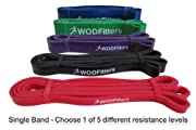 Red - Single Band - WODFitters Assisted Pull-up Resistance Band for Cross Fitness Training and Power-lifting (Single Band) * Ideal for Assisted Pull Ups, Chin Ups or Power Lifting