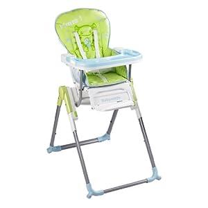 Chaise haute slim babymoov vert bleu b b s for Chaise haute babymoov slim
