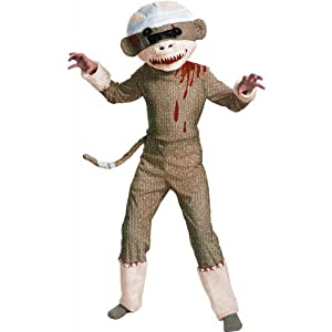 Zombie Sock Monkey Kids Costume