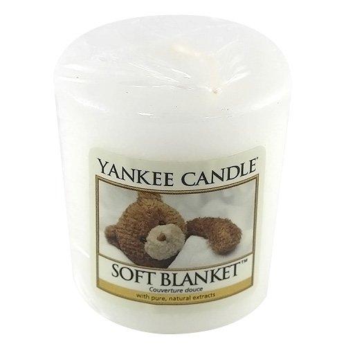 Yankee Candle Samplers Candele Votive Soft Blanket, Cera, Bianco, 4.5 x 4.5 x 5.3 cm