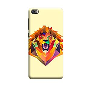 Xiaomi Mi5 Terrible Illustrated Lion Premium Designer Polycarbonate Hard Back Case Cover with full Protection