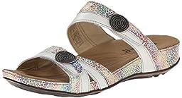Romika Women\'s Fidschi 22 Dress Sandal, White Kombi Colortex, 37 BR/6-7 M US