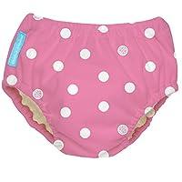 Charlie Banana Extraordinary Training Pants - Big Polka Dots on Baby Pink - Small