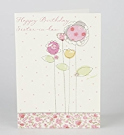 Sister-in-Law Stitch Floral Birthday Card