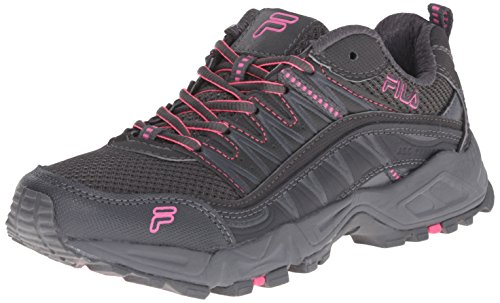 Fila Women's AT Peake Trail Running Shoe, Dark Shadow/Castlerock/Knockout Pink, 8.5 M US
