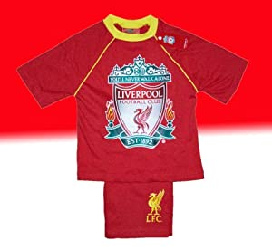 Official Liverpool Fc Short Pyjamas 7-8 Years Td by ThePyjamaFactory