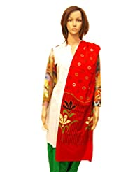 Dulhan Choice Red Colour Designer Cotton Dupatta
