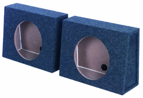 "2) Q-Power Qtw10 Single 10"" Sealed Car Audio Subwoofer Sub Box Enclosures Pair"
